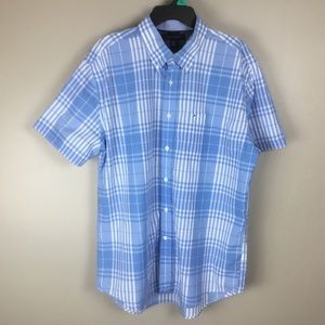 Tommy Hilfiger Men's Casual Blue shirt (XL)